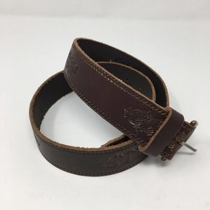 Eddie Bauer Tooled Leather Belt Small